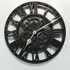 Sterling & Noble wall clock, steampunk, gears, metal look/it's plastic, roman #s