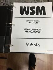 Kubota M6800, M6800S, M8200, M9000 Workshop Service Repair Manual Tractor