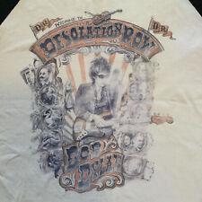 Bob Dylan t-shirt, Desolation Row print, raglan, 3/4 sleeve, mens size XL