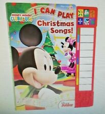 NEW Disney Mickey Mouse Clubhouse I Can Play Christmas Songs! Book