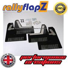 rallyflapZ Mitsubishi lancer Evo 7-9 Mud Flaps Black Ralliart Anthracite 4mm PVC