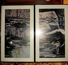 """Neal R. Anderson """"Rocky Sanctuary-Loons"""" Limited Edition Signed #199/800 Pair"""