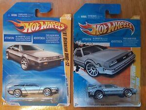 Hot Wheels Delorean 1981 DMC 12 , Back To the Future Time Machine 1:64 Long Card