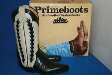Prime Boots Cowboystiefel westernstiefel  stiefel neu  gr. 37  schwarz weiß