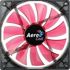AeroCool Lightning LED Fan - 140x140x25mm, 1200+10rpm, 48CFM, 22dBA - Red LED