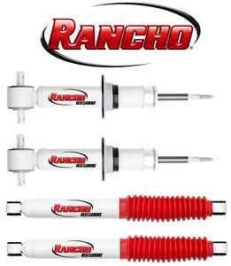 Front Rear Rancho RS5000X Shocks 2007-2013 Chevy Silverado GMC Sierra 4X4