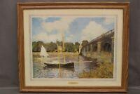 Bridge at Argenteuil Print in Frame original artist: Claude Monet