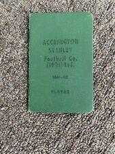 More details for original accrington stanley players season pass 1961/1962 last ever season