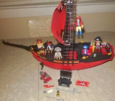 VINTAGE 5869 PLAYMOBIL RED CORSAIR VICKING PIRATE VILLAIN SHIP VESSEL SET LOT