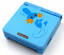 Custom Printed & Sprayed Re-shell Pokemon Mudkip Nintendo Game Boy Advanced Sp