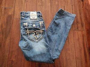 Rock Revival Kenneth Alt Straight Cut Blue Jeans Men's 31 Waist 29 Inseam