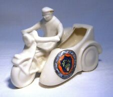 More details for carlton  crested china  motorcycle & sidecar  wokingham