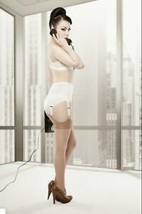 Rago SHAPEWEAR 72522 WHITE 6 Strap Suspender Belt Made in the USA