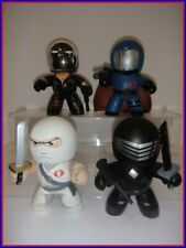 HASBRO GI JOE MIGHTY MUGGS LOT - Snake Eyes, Storm Shadow, Destro, Cobra Comm.