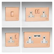 Varilight Screwless Antimicrobial Copper Light Switches & Plug Sockets & Plates