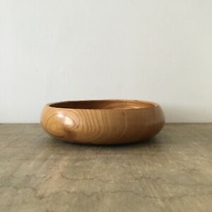 Wooden Bowl Elm Wood Fruit Bowl Display Bowl by AB Woodturning 25cm Diameter
