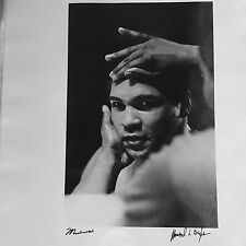 Muhammad Ali Taschen Silver Gelatin Howard Bingham Signed Photo In The Corner