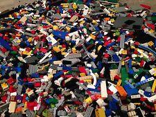 Lot Of 400 Random Lego Pieces Bricks /  Lb  / Parts / Mix Colors / +2 FIGURES