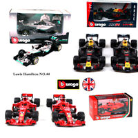 Burago 1:43 Formula One F1 Car Models Ferrari Mercedes RedBull Race Collection