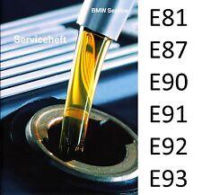 Original BMW Serviceheft Scheckheft Service Heft 1er 3er E81 E87 E90 E91 E92 E93