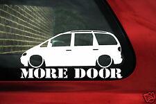 Stanced Ford Galaxy Mk1, 2.8 V6 / 1.9 TDi 'More Door' low mini van sticker Decal