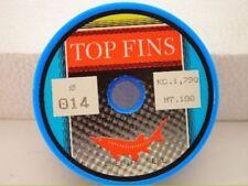 1 bobina 100 metri di monofilo topfins dia 0,14mm mf x31