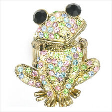 Smart Frog Froggy Animal Pet Cocktail Ring Costume Jewelr Crystal Multicolor 193
