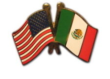 Mexico Friendship with US Flag Lapel Badge Pin