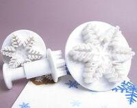 Sugarcraft Hot Sale 3 Snowflake Cutter Plunger for Cake Decorating