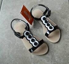 Shoes Gymboree,Daisy Park,button trimmed sandals,NWT,sz.9,12,13,1,black /& white