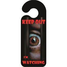 Keep out Im Watching Door Hanger - Sign Funny Novelty Bedroom Hanging