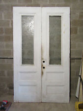 ~ Antique Double Entrance French Doors ~ 59.5 x 100 ~ Architectural Salvage ~