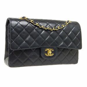 Classic Double Channel Flap Medium Chain Shoulder Bag 36026