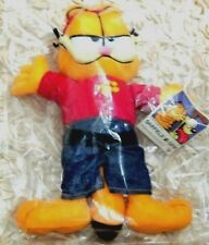 NWT RARE VINTAGE PLUSH GARFIELD WITH BACKWARDS RED CAP SHIRT BLUE JEANS NANCO