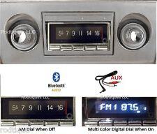 1966-67 Chevy II Nova Bluetooth AM/FM Stereo Radio Multi Color Display USA 740