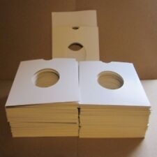 "100 White CARD Sleeves  TOP QUALITY CARD SLEEVES our 7"" papers fit inside these"