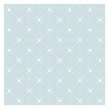 York DI0978 Wallpaper Disney Mickey Mouse Argyle Unpasted Blue Wallcoverings