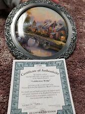 Thomas Kinkade 25th Anniversary Master Collection Cobbleston Bridge