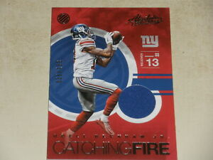 2016 Panini Absolute Catching Fire Game Used Jersey #13 Odell Beckham Jr 035/199