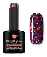 031 VB Line Purple Large Glitter - gel nail polish - super gel polish