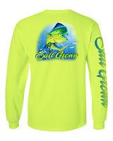 Salt Grown Long Sleeve Saltwater Dolphin fishing t shirt mahi mahi dorado 50/50