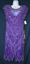 Scala Haute SILK Purple gown, pageant, prom, evening, Wedding sz Small vintage