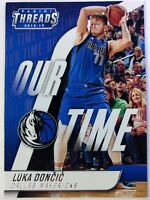 2018-19 Panini Threads Our Time Luka Doncic Rookie RC #15, Dallas Mavericks