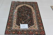 Handmade Silk Rug Carpet Tradition Hand Knotted 3'x5'area Rugs Oriental Floral