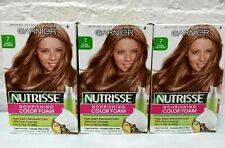 3 Boxes Garnier Nutrisse Nourishing Foam Hair Color Dye # 7 Dark Blonde Read!