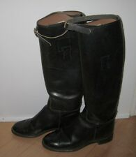 Equestrian Black Leather Horse Riding Boots Made In USA 6