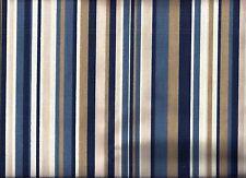Blue Tan Stripe curtain valance