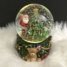 Father Christmas Tree Snow Globe LED Light Up Colour Changing Gisela Graham