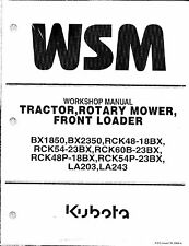 Kubota BX1850, BX2350 Tractor, Loader, Rotary Mower Workshop Manual