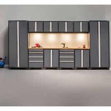Garage Cabinet Set 12 Piece Tools Storage Workbench 24 Gauge Steel Wall System